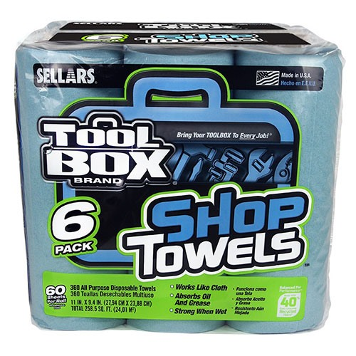 A 54416 - TOOLBOX® Z400 ROLL OF SHOP TOWELS - 6 PACK